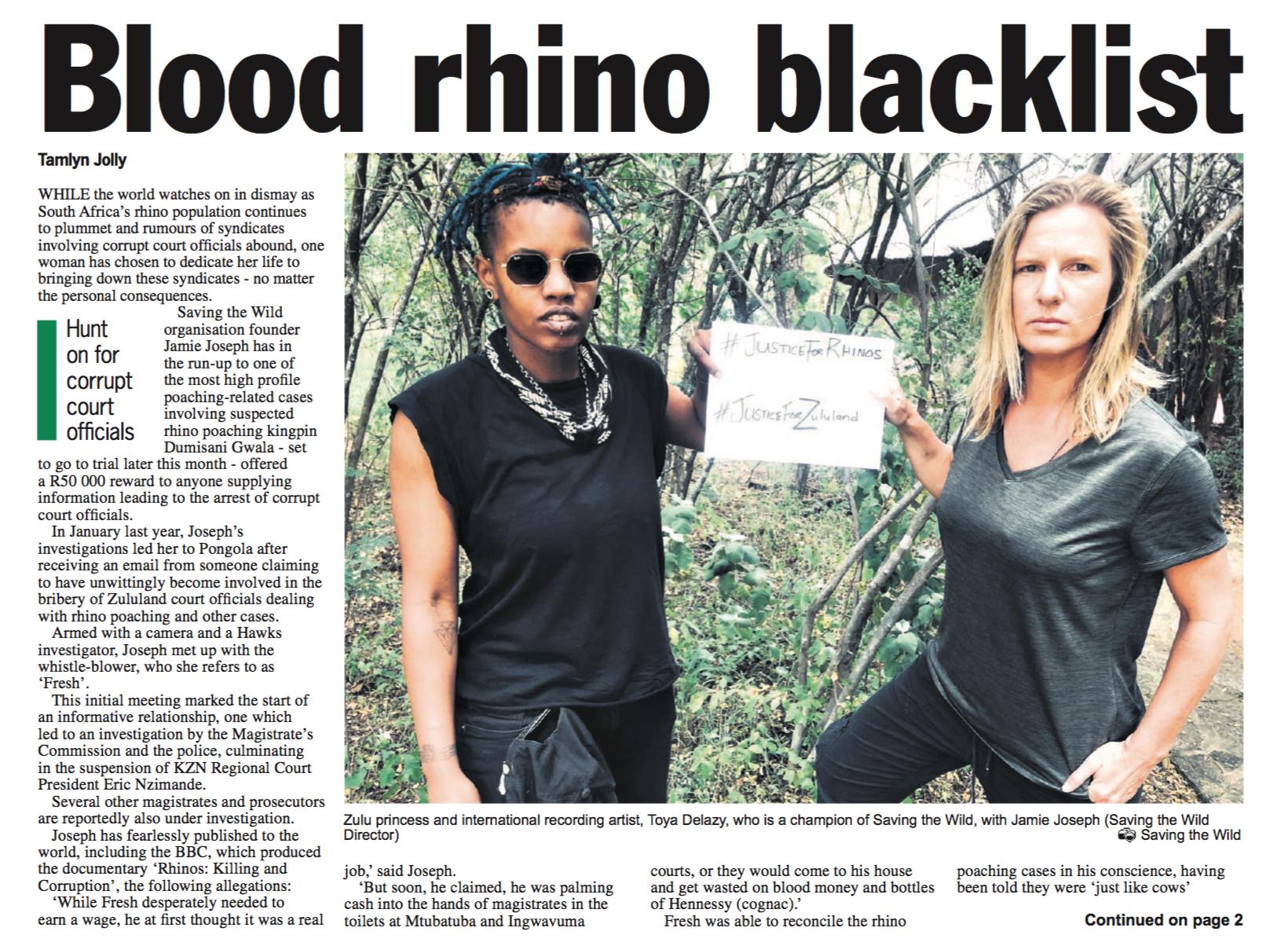 savingthewild com » Zululand Observer: Hunt on for corrupt